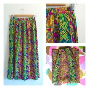 🇺🇸 Vintage Abstract Tribal Print Festival Skirt